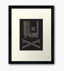 Nes Skull Framed Print
