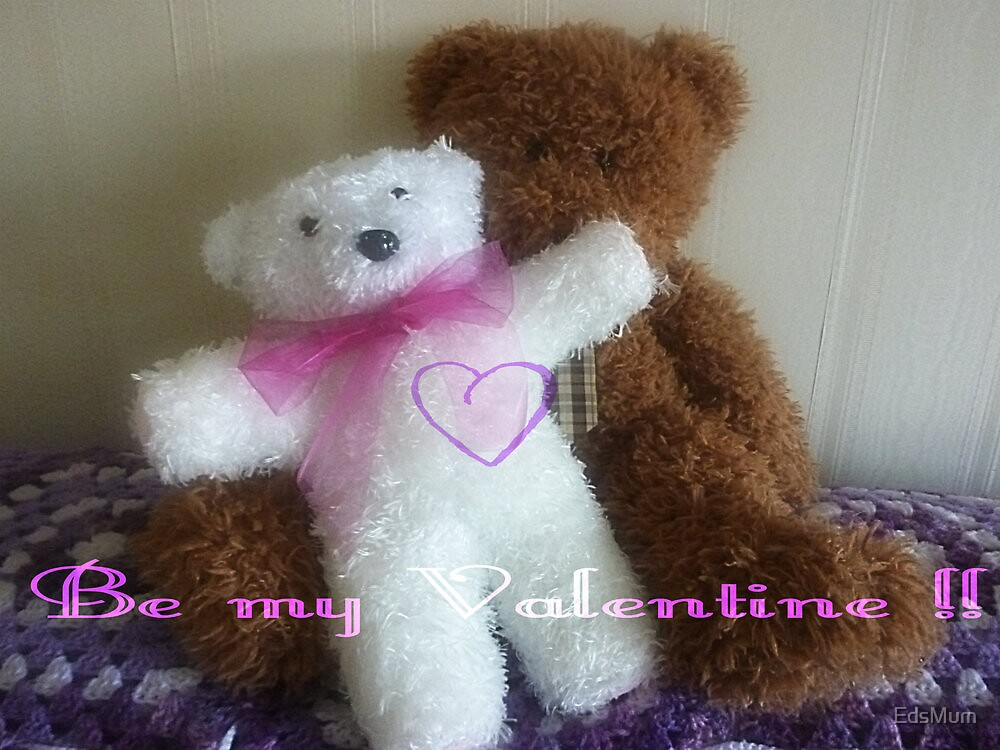 Teddy Bear Valentine Card by EdsMum