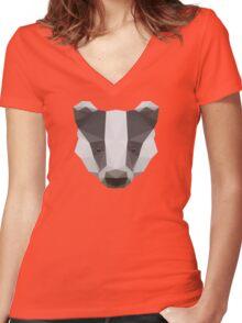 Badger Love Women's Fitted V-Neck T-Shirt