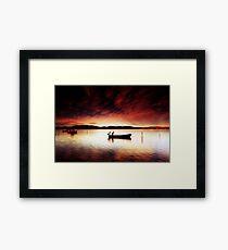 Pelicans Boat Framed Print