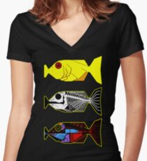 The Hitchhikers Guide to the Galaxy - 3 Babel Fish Women's Fitted V-Neck T-Shirt