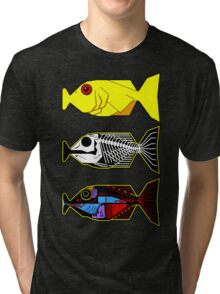 The Hitchhikers Guide to the Galaxy - 3 Babel Fish Tri-blend T-Shirt