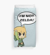 I'm Not Zelda Duvet Cover