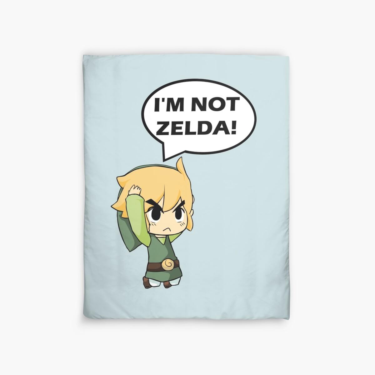"""I'm Not Zelda"" Duvet Covers By Mayumiku"