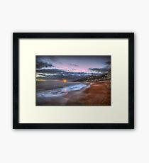 Ventnor Beach sunset Framed Print