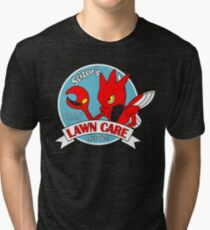 Scizor's Lawn Care Black Shirt Tri-blend T-Shirt