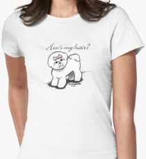 Bichon Hows My Hair? Womens Fitted T-Shirt