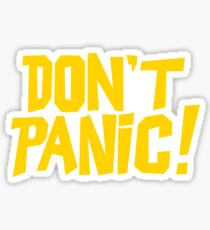 The Hitchhikers Guide to the Galaxy - Don't Panic Sticker