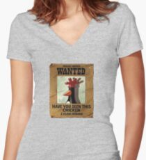 Have you seen this Chicken? Women's Fitted V-Neck T-Shirt