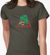 clever girl, jurassic Women's Fitted T-Shirt