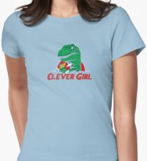 clever girl, jurassic Womens Fitted T-Shirt
