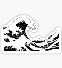 Hokusai - Great Wave interpretation - Vector Sticker