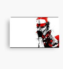 Pokemon Trainer Red Canvas Print