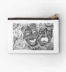 comedy and tragedy Zipper Pouch