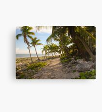 Leaning Palms Canvas Print