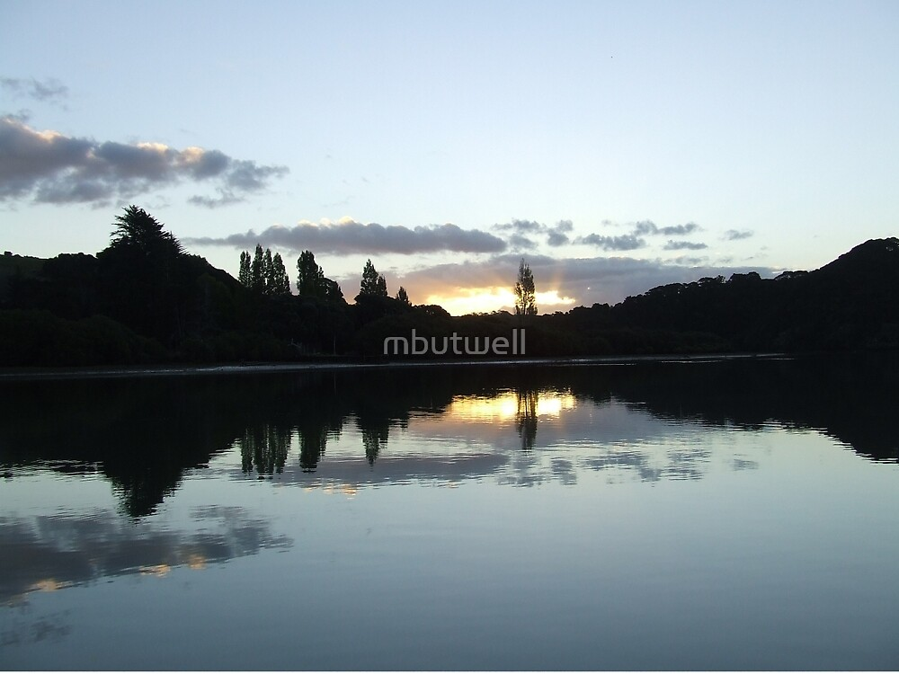 Sunset Bay of Islands New Zealand by mbutwell