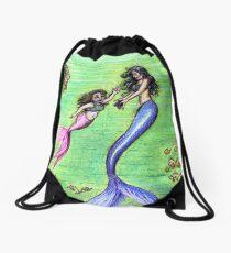 Mermommy Drawstring Bag