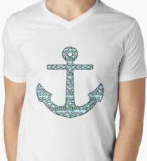 Tribal Anchor Men's V-Neck T-Shirt