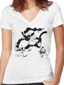 Chimchar Evolution Line Women's Fitted V-Neck T-Shirt