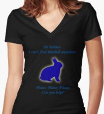 I Can't Find Bluebell Anywhere Women's Fitted V-Neck T-Shirt