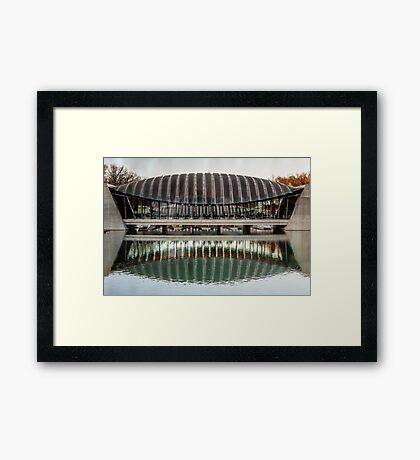 Reflections at Crystal Bridges Framed Print