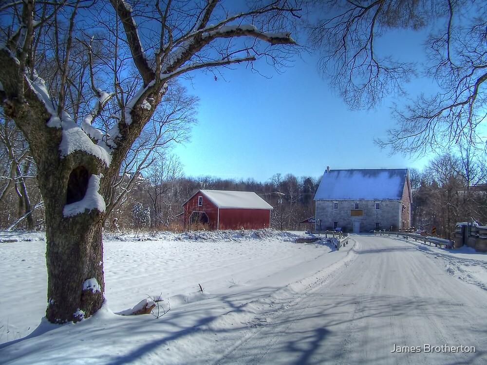 West Virginia Snow Scene by James Brotherton