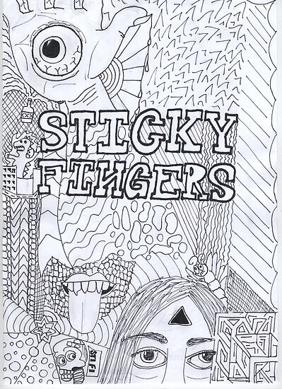 Quot Sticky Fingers Band Poster Quot Posters By Thekaleidoscope