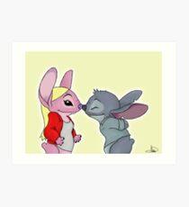 Emma&Neal - Angel&Stitch Art Print
