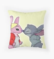 Emma&Neal - Angel&Stitch Throw Pillow