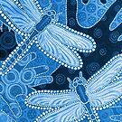 Blue dragonflies by Barbara Glatzeder