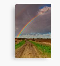 """""""The Rainbow and The Roadway"""" Canvas Print"""