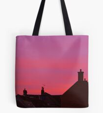 Rooftop Sunset Tote Bag