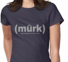 (murk) GRAY Womens Fitted T-Shirt