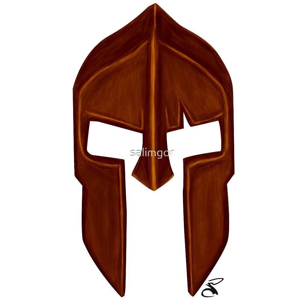 Spartan helmet dark bronze by salimgor