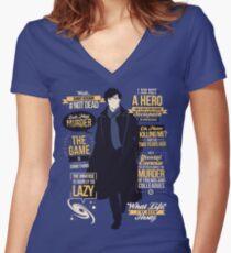 #Not Dead Women's Fitted V-Neck T-Shirt