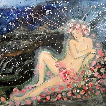 Goddess of Night Roses by JulianaLachance