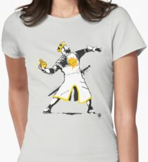 Banksy Python 1-2-5 Womens Fitted T-Shirt