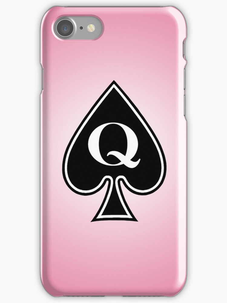 Smartphone Case - Queen of Spades - Pink by Mark Podger