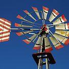 Patriotic Windmill by WildestArt