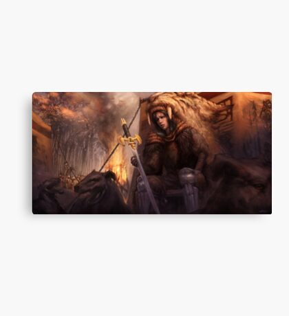 The King's Remains  Canvas Print