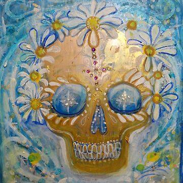 Blue Sugar Daisy Scull by JulianaLachance