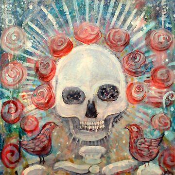 Grateful Sugar Rose Scull by JulianaLachance