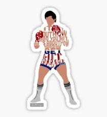 Rocky Balboa From Rocky Typography Quote Design Sticker