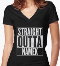 Straight Outta Namek - Dragon Ball Z Piccolo Women's Fitted V-Neck T-Shirt