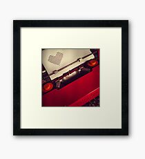 Send a LOVE letter...Retro style Framed Print