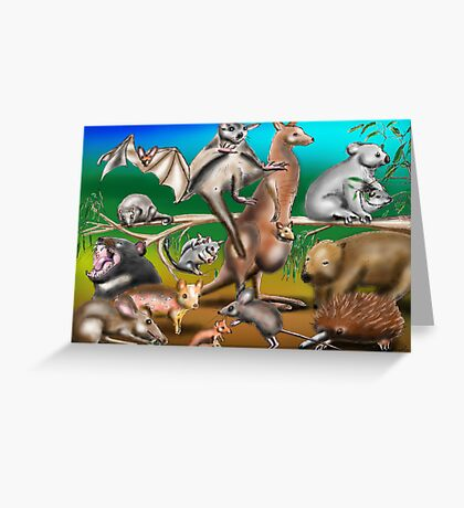 Australian Marsupials Greeting Card