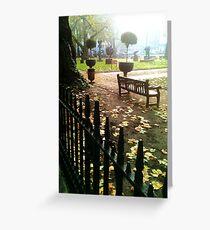 Berkeley Square park bench Greeting Card