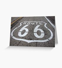 American Dreams - Route 66  Greeting Card