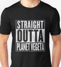 Straight Outta Planet Vegeta - Dragon Ball Z Slim Fit T-Shirt