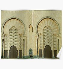 Hassan II Mosque Tiling Poster